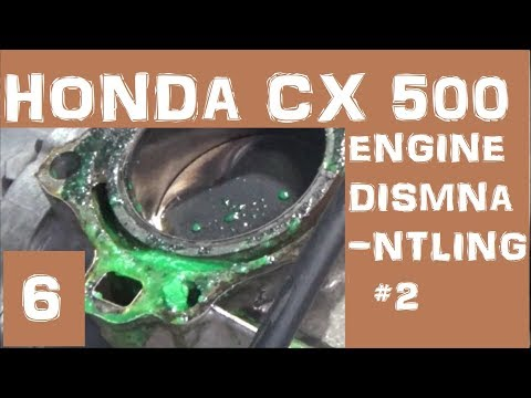 Honda CX500 Cafe Racer - Engine dismantling 2- Episode 6