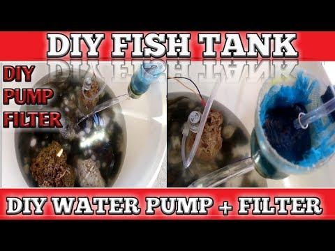 DIY FISH TANK + WATER PUMP + WATER FILTER + INDOOR FISH POND