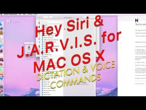 Hey Siri on Mac Os X Voice Commands Dictation JARVIS