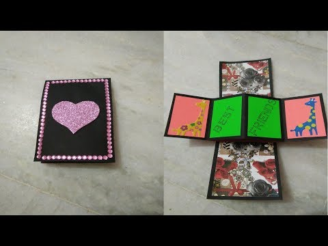 Friendship Day Special : Twist and Popup Card | Step By Step Tutorial |