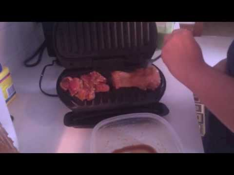 George Foreman Grilling! Chicken Thighs or Wings - AlongWithMe
