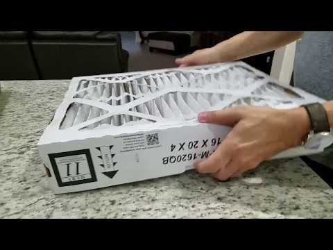 Changing your Carrier 4 inch air conditioning filter