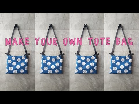 Make Your Own Tote Bag from Japanese Lunch box Wrapping Cloth !