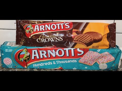 Arnott's Biscuits: Caramel Crowns and Hundreds & Thousands Review