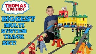 BIGGEST Thomas Multi System Track Set Ever Made The Super Station Unboxing With Ckn Toys
