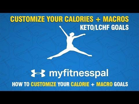 Keto / LCHF & MyFitnessPal, Customize Calories & Macros Goals