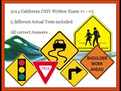 2018 California DMV written tests - 5 different tests