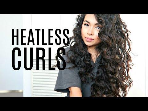 HEATLESS TIGHT CURLS (OVERNIGHT BANTU KNOTS ON STRAIGHT ASIAN HAIR) 2018