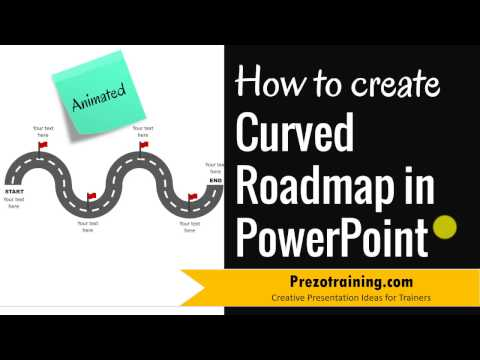 How to Create Curved Roadmap in PowerPoint (ANIMATED!)