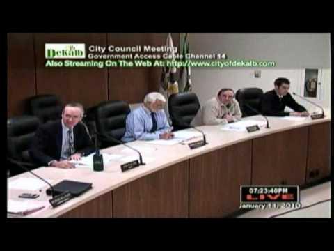 WATER RATES vs CPI Dekalb City Council 1-12-10