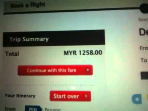Malaysian Airlines web system problem