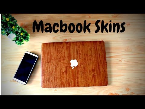 macbook skins for awesome look!!   Wooden textured macbook skin