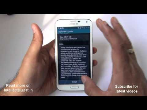 Update Samsung Galaxy S5 Firmware or Software- Step By Step Video Tutorial