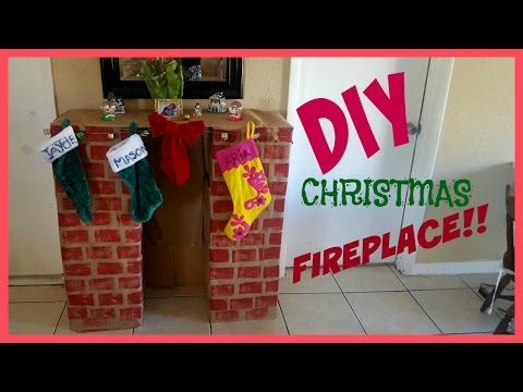 Super easy DIY Christmas  Fireplace! Less than $10