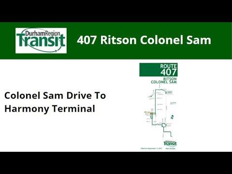 DRT 2018 NovaBus LFS #8589 On 407 Ritson Colonel Sam (Colonel Sam Dr To Harmony Term - Full)