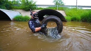Exploring Muddy Pipe For 1 Year Old LOST GOPRO!!!! (CREEPY)