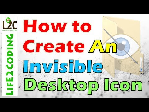 How to Create an Invisible Desktop Icon on Windows 10, 8, 7