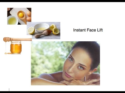 Instant Face Lift for  Radiant,Pore-less,Glowing Skin. DIY Mask Face Lift