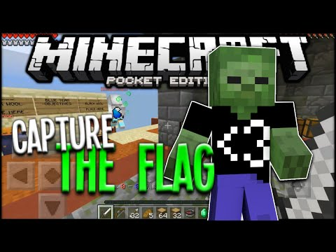 Minecraft PE Capture The Flag - MCPE 0.15.2 Minigame Server (Pocket Edition)