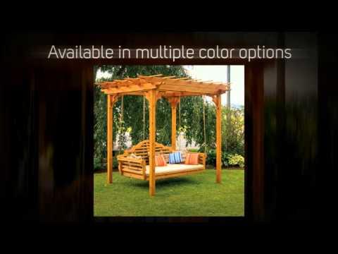 AL Furniture Co. Cedar Pergola Swing Bed Stand - 700C, 701C,