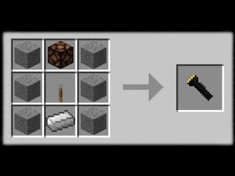 Minecraft PE | How to Make a Working Flashlight (No Mods or Addons)