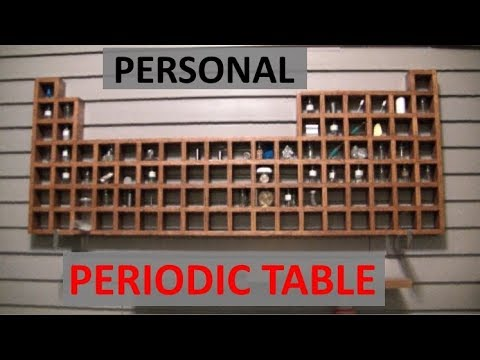A Tour of my PERIODIC TABLE! - ELEMENTALMAKER