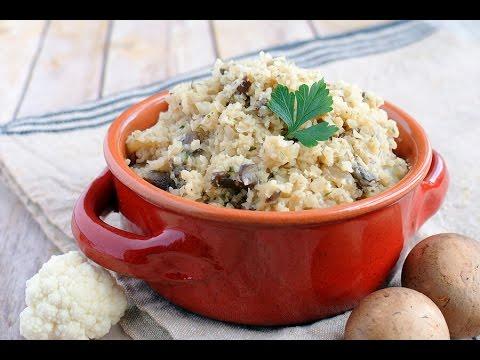 Keto Recipe - Cauliflower Mushroom Risotto