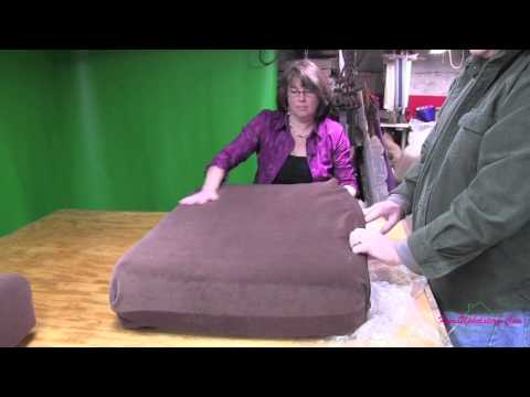Upholstery Cushion Covers - Shrinking And Inserting Foam