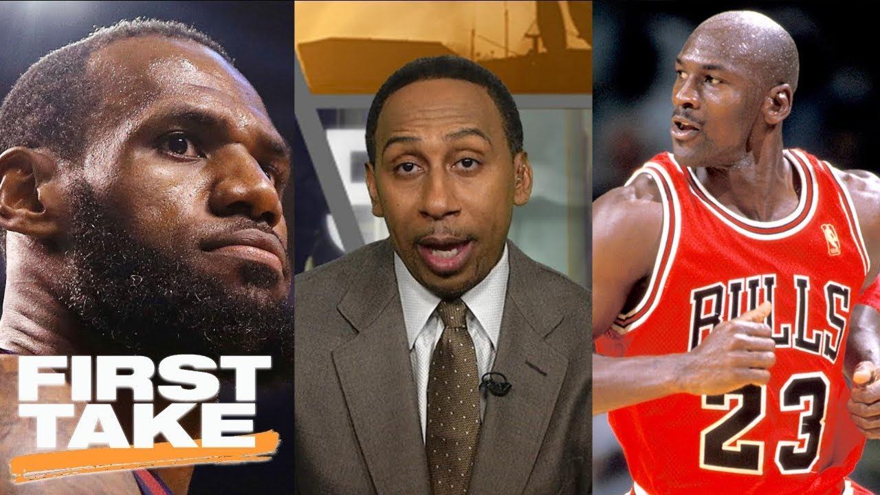 Stephen A. Smith: LeBron James can never surpass Michael Jordan   First Take   ESPN