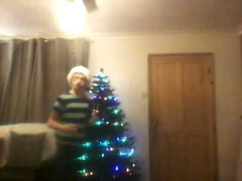 fake Christmas tree to real pine tree