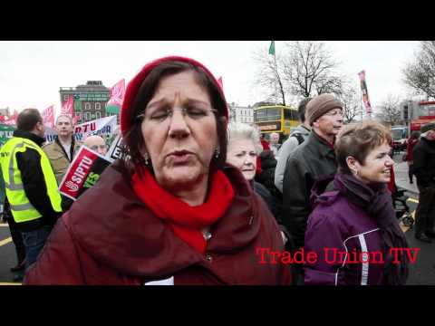 Dublin Council of Trade Unions March Against Austerity 26th November 2011