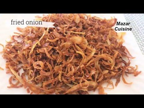 Fried onion recipe ,Crispy Fried Onions , Fried Pyaz For Biryani پیاز سرخ شده
