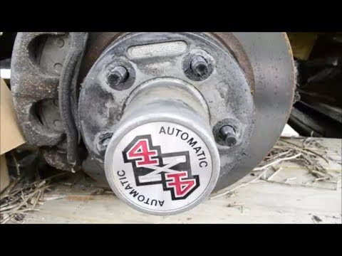 96 FORD Ranger Auto LOCKING Hub And ROTOR Removal 4x4