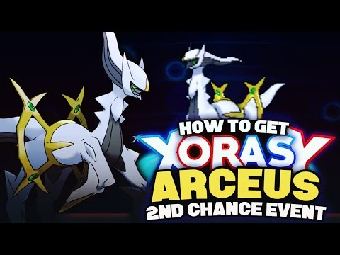HOW TO GET ARCEUS! 2ND CHANCE! Mythical Pokemon Event! Pokemon XY Omega Ruby Alpha Sapphire Tutorial