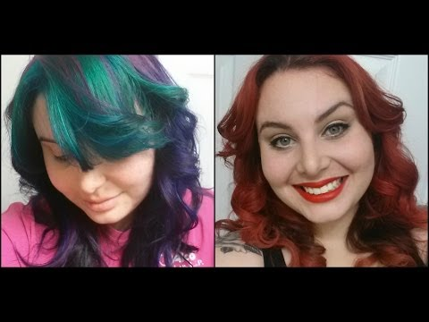 What I used to go from Dark Purple to Bright Red Hair