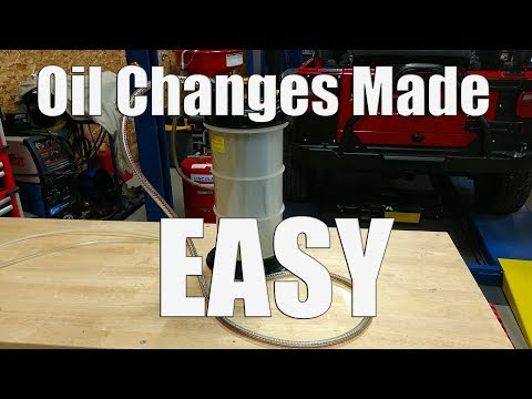 Easy & Clean Lawn Mower Oil Change - Oil Extractor Pump Also Good on Cars Boats & Small Equipment