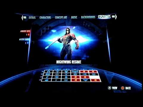 Injustice Gods Among Us - How to get Alternate Costumes and Skins