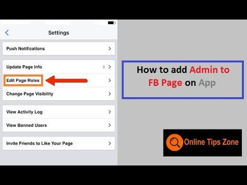 How to add admin to Facebook Page on mobile