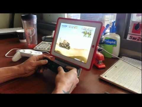 M.A.M.E emulator running on my iPad 4 + Wii mote