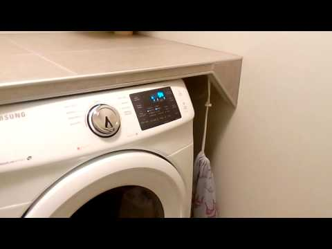 Tile Countertop Cover Shelf Over Washer and Dryer, Building Instructions