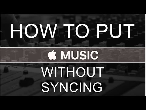 How to put music on iPhone without syncing.