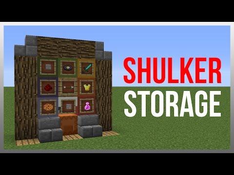 Minecraft 1.12: Redstone Tutorial - Shulker Box Storage System!