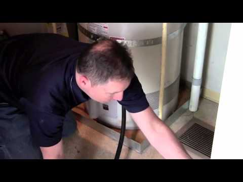 How to drain your GAS water heater