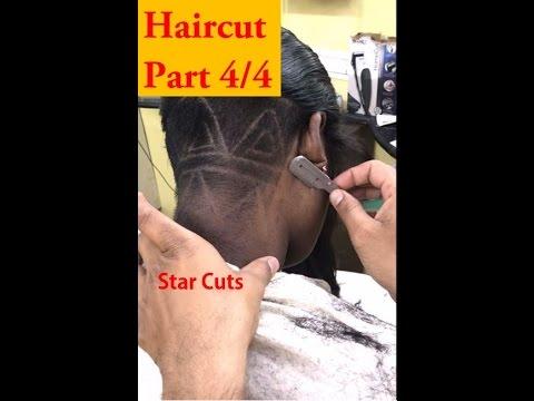 Girl Haircut in Barbershop - Part 4/4 (Razor Shave)   Hd 1080p