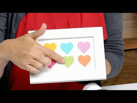 How to Create a Dotted Heart in Frame with Stephanie Barnard - Sizzix