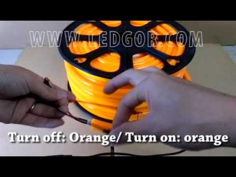 Orange jacket Orange led flex neon 12V 10*23mm mini size / LEDGOR