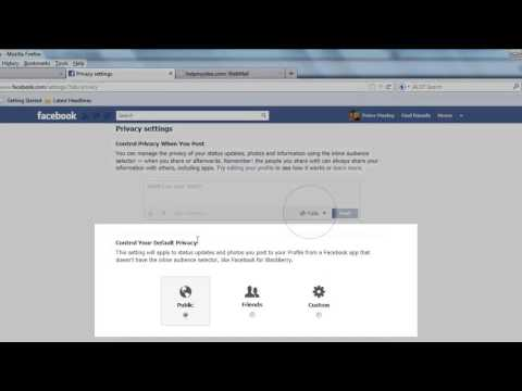 Changing Privacy Settings on Facebook