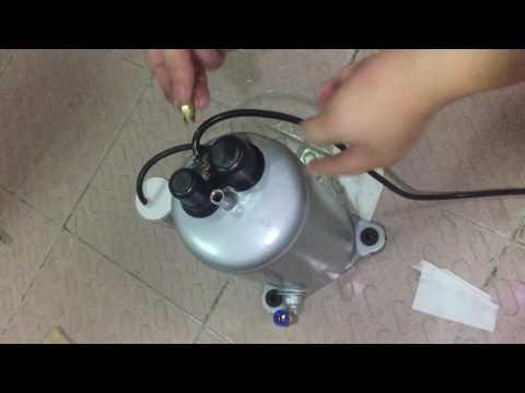 before vacuum pump working  need  add vacuum pump oil to vacuum pump