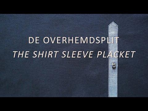 Het naaien van een overhemdsplit / Sewing a shirt sleeve placket / tower placket