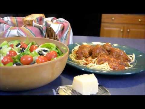 How to Make Easy Homemade Spaghetti & Italian Cheesy Meatballs -Grandma's Recipe , Yummy, Robust